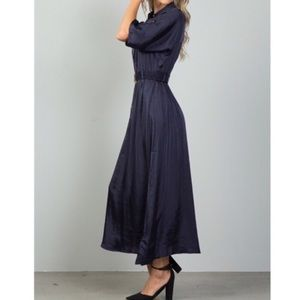 NWT Belted navy maxi dress.  Size M